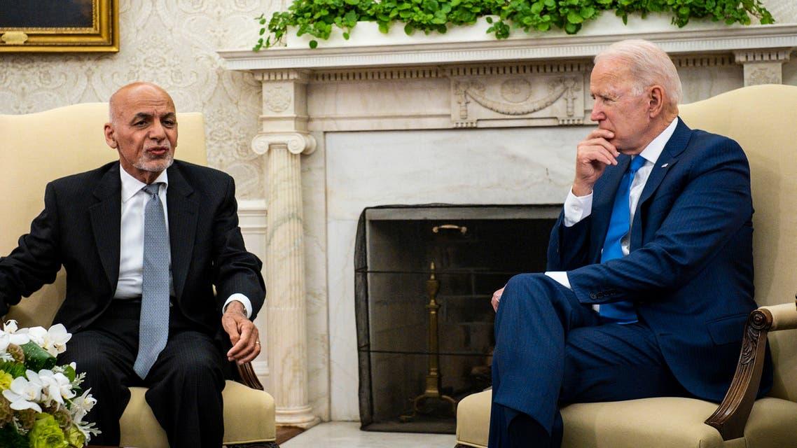 U.S. President Joe Biden meets with Afghan President Ashraf Ghani at the White House, in Washington, U.S., June 25, 2021. REUTERS/Jonathan Ernst