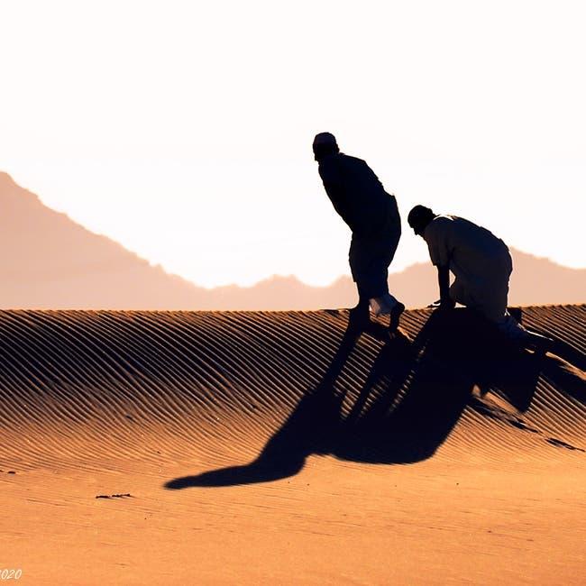 صور.. مشاهد جمالية لكثبان رمال في السعودية
