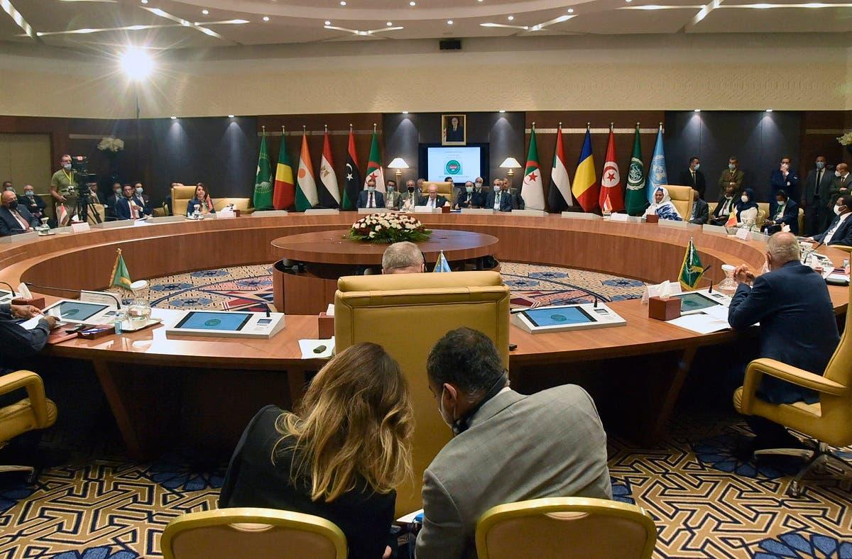 من مؤتمر دول جوار ليبيا في الجزائر