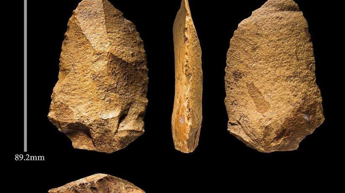 الأدوات الحجرية المكتشفة