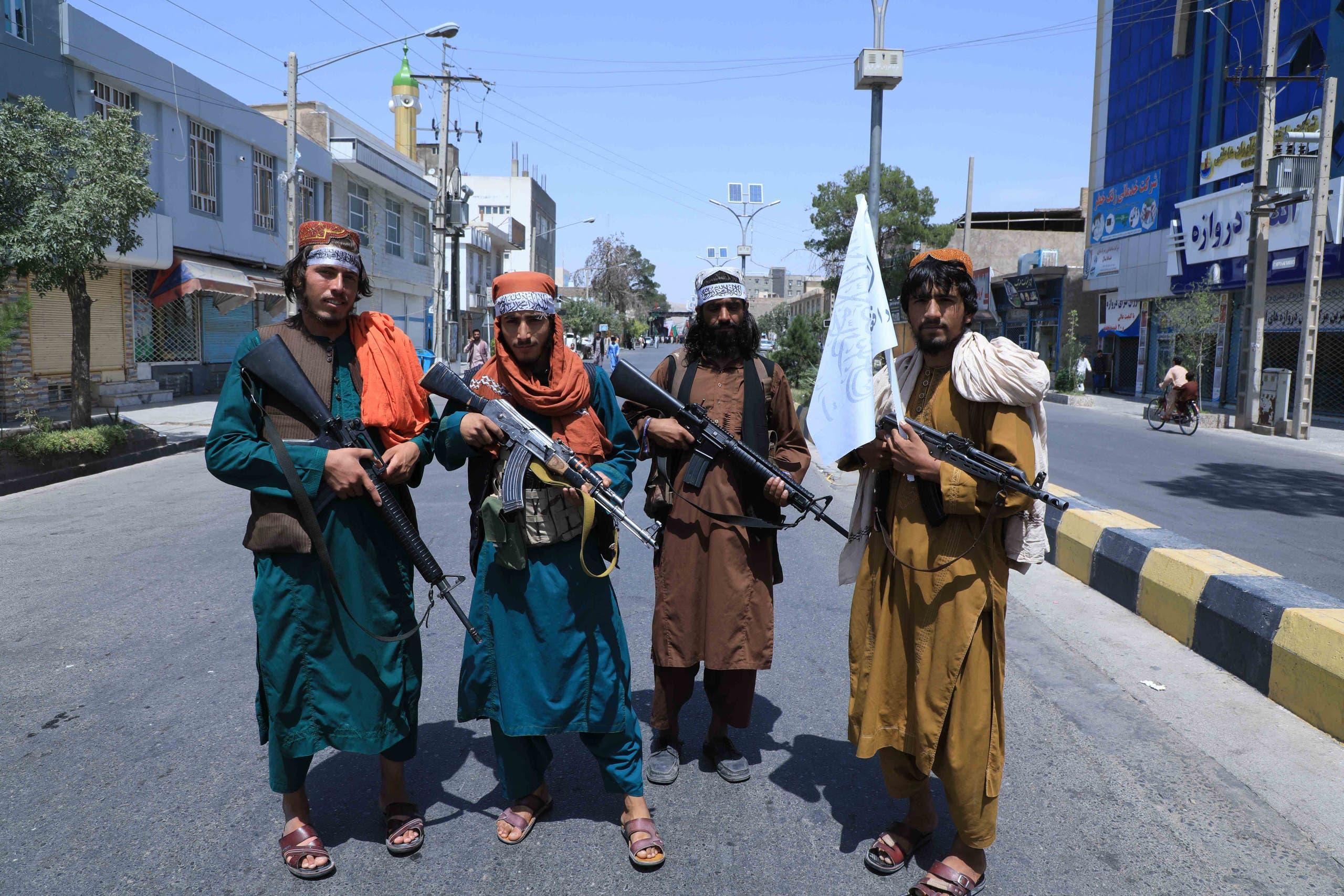 عناصر من طالبان في هرات، غرب أفغانستان (أرشيفية- فرانس برس)