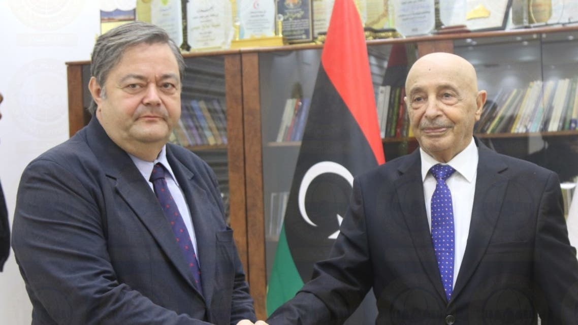 عقيلة صالح يلتقي سفير إسبانيا في ليبيا 1 سبتمبر 2021