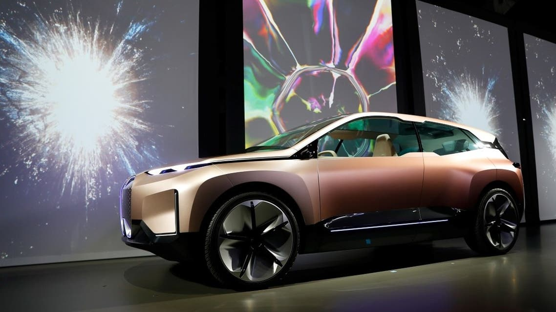The BMW iNEXT electric autonomous concept car is introduced during a BMW press conference at the Los Angeles Auto Show in Los Angeles, California, US. (Reuters)