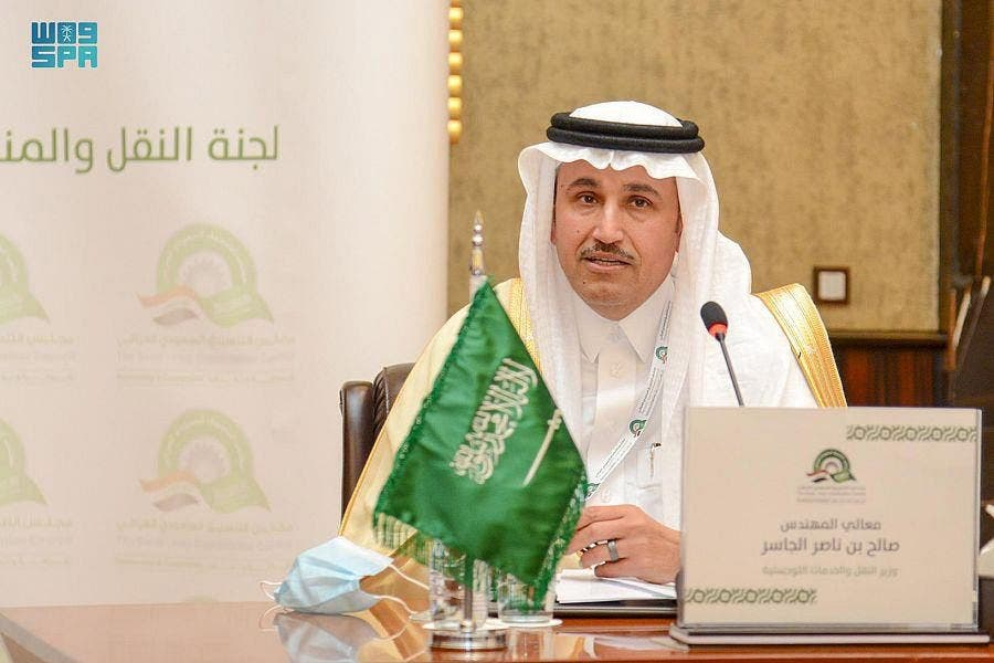 Saudi Minister of Transport and Logistic Services Saleh bin Nasser al-Jasser. (SPA)