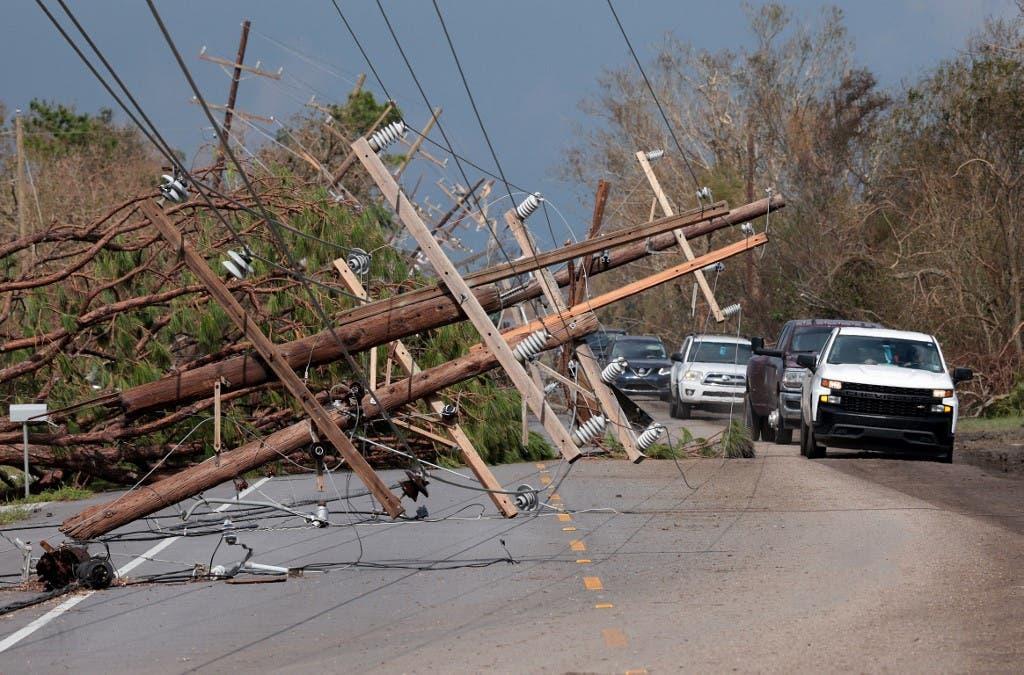 إعصار إيدا (أ ف ب)