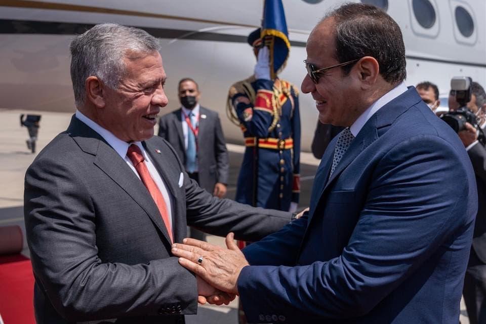 السيسي يستقبل الملك عبد الله الثاني