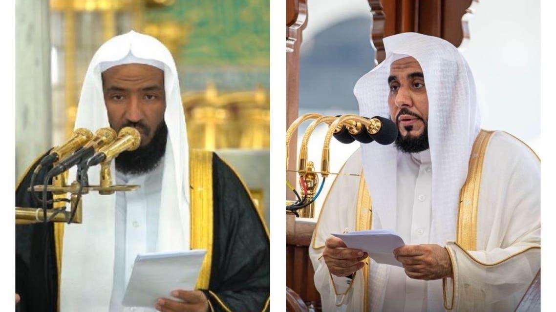 الدكتور الجهني والبعيجان خلال خطبتهما  اليوم في الحرمين