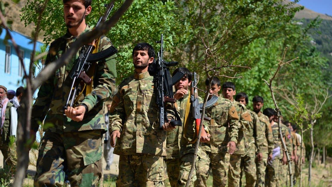 عناصر من جبهة المقاومة الأفغانية (أرشيفية- أسوشييتد برس)