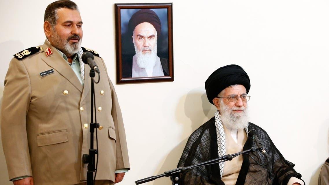 Major General Hassan Firouzabadi delivers remarks during a meeting between Iran's Supreme Leader Ali Khamenei and Iranian military commanders in Tehran, September 24, 2014. (Khamenei.ir)