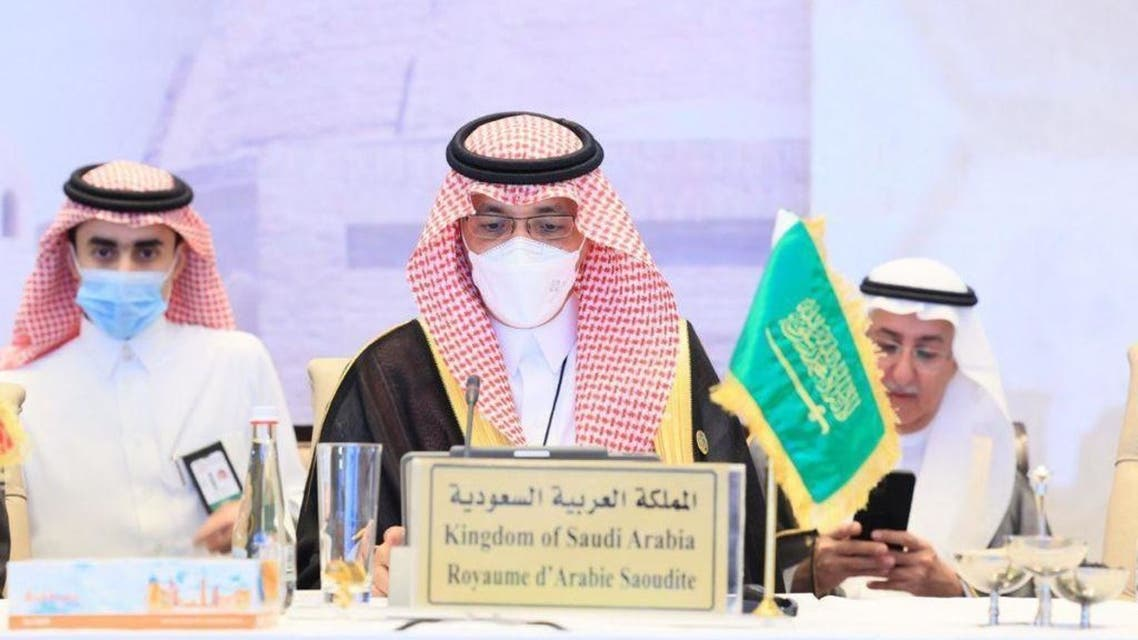 وزير المالية السعودية خلال مشاركتهفي الاجتماعات السنوية لمجموعة البنك الإسلامي للتنمية