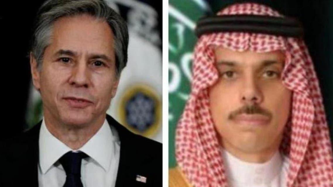 فیصل بن فرحان و آنتونی بلینکن