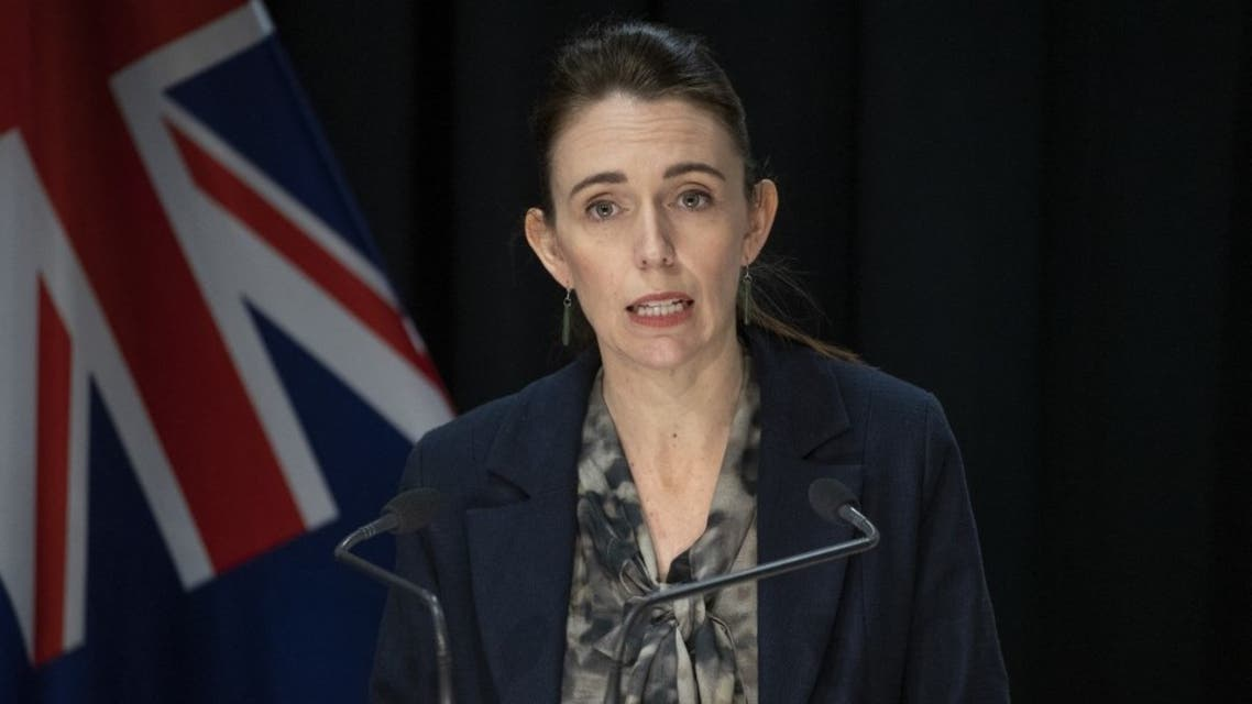 New Zealand's Prime Minister Jacinda Ardern speaks during a press conference in Wellington on September 4, 2021, after the country recorded its first Covid-related death in six months. (AFP)