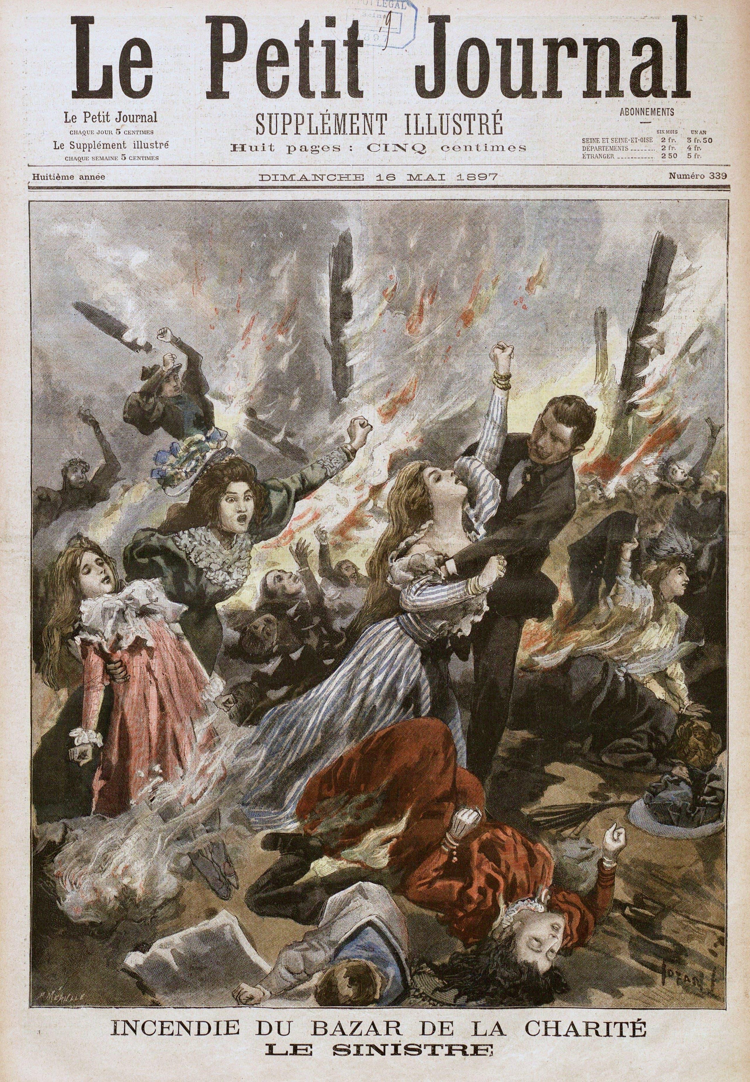صورة لغلاف إحدى الصحف الفرنسية في اليوم الذي تلى الحادث