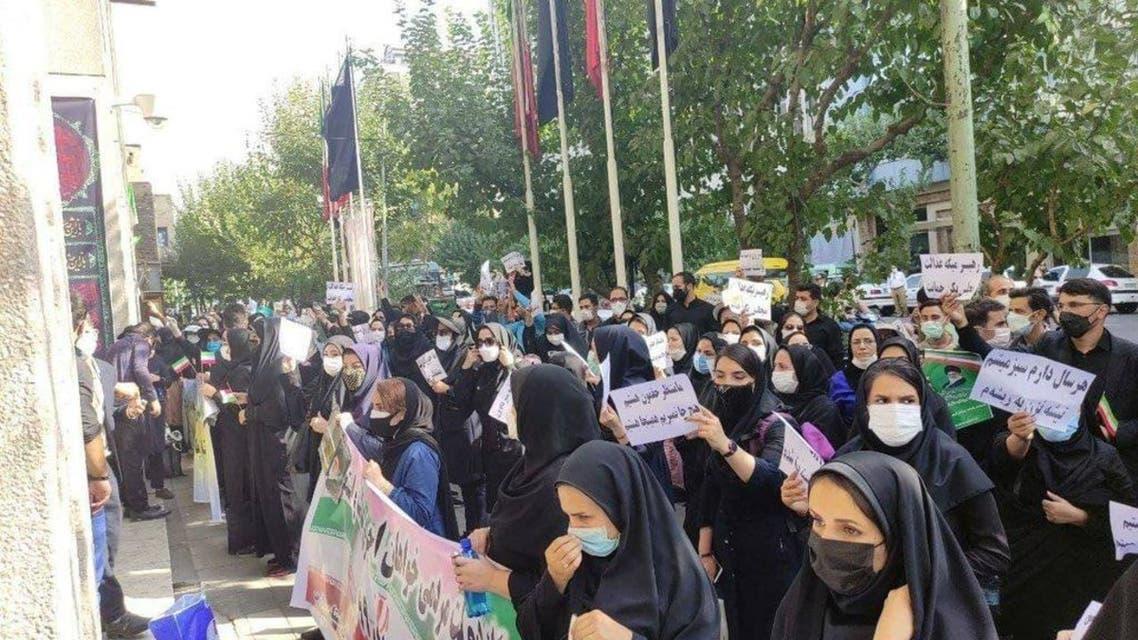 اعتراض کارنامه سبزها مقابل وزارت آموزش و پرورش ایران