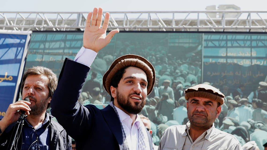 Ahmad Massoud, son of the slain hero of the anti-Soviet resistance Ahmad Shah Massoud, waves as he arrives to attend a new political movement in Bazarak, Panjshir province Afghanistan September 5, 2019. (Reuters)