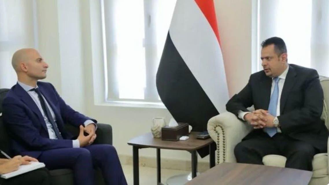 معين عبدالملک در دیدار با سفیر فرانسه