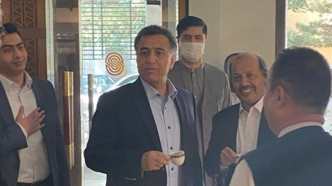 The director general of Pakistan's Inter-Services Intelligence agency, Faiz Hameed, visited Afghanistan to meet Taliban leaders. (Twitter/ShamaJunejo)
