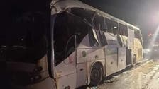 Bus overturns on Egypt highway, killing at least 12