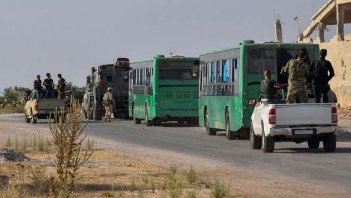 انتقال مخالفان نظام اسد از جنوب به شمال سوریه