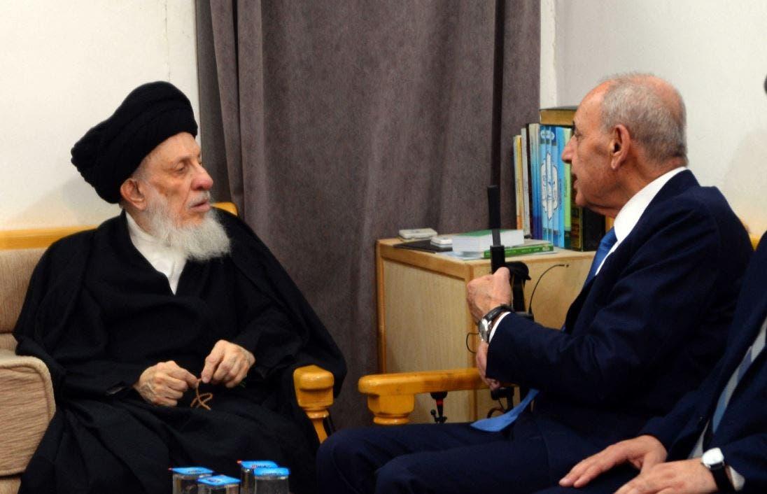 السيد محمد سعيد الحكيم مستقبلا رئيس مجلس النواب اللبناني نبيه بري