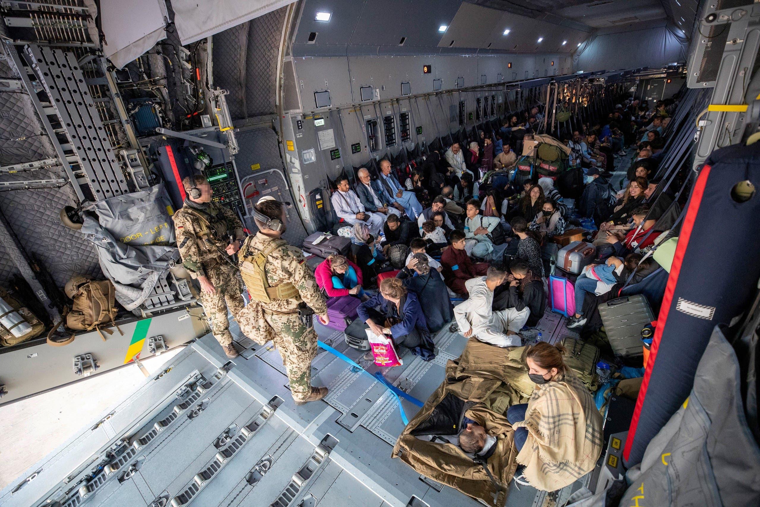 من عمليات الإجلاء التي نظمتها المانيا من كابل