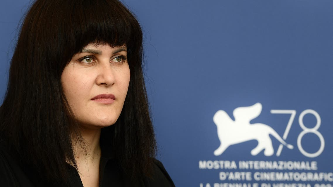 Afghan director Sahraa Karimi attends a photocall following an International Panel On Afghanistan And The Situation Of Afghan Filmmakers And Artists, on September 4, 2021 during the 78th Venice Film Festival at Venice Lido.