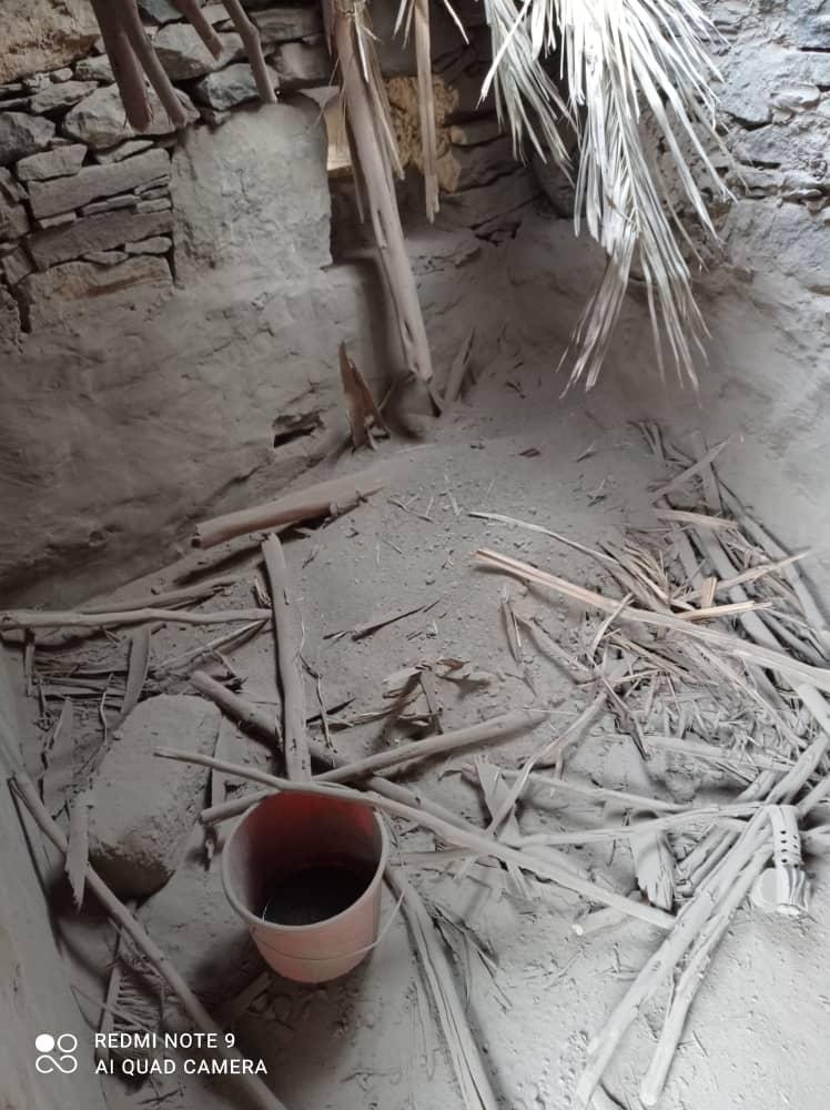 أضرار جراء  قصف الحوثي على رحبة