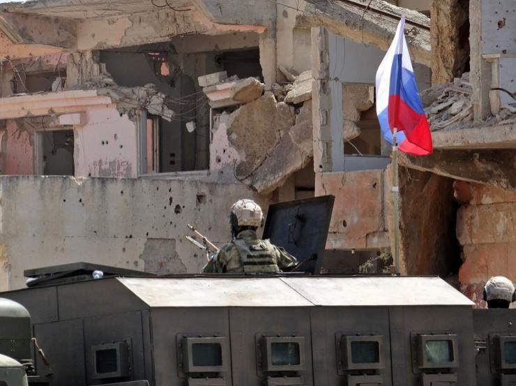 حضور نيروهای روسیه در شهر درعا البلد
