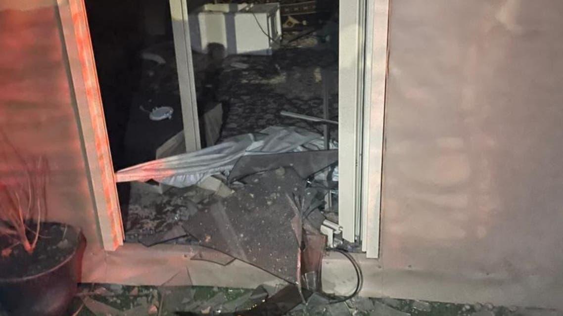 منازل متضررة بصواريخ الحوثي في السعودية