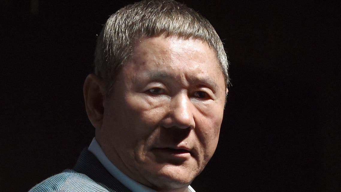 Japanese movie director Takeshi Kitano listens to questions after winning the first Samurai Award of the Tokyo International Film Festival during an event with young Japanese filmmakers in Tokyo on October 25, 2014. AFP PHOTO/Toru YAMANAKA