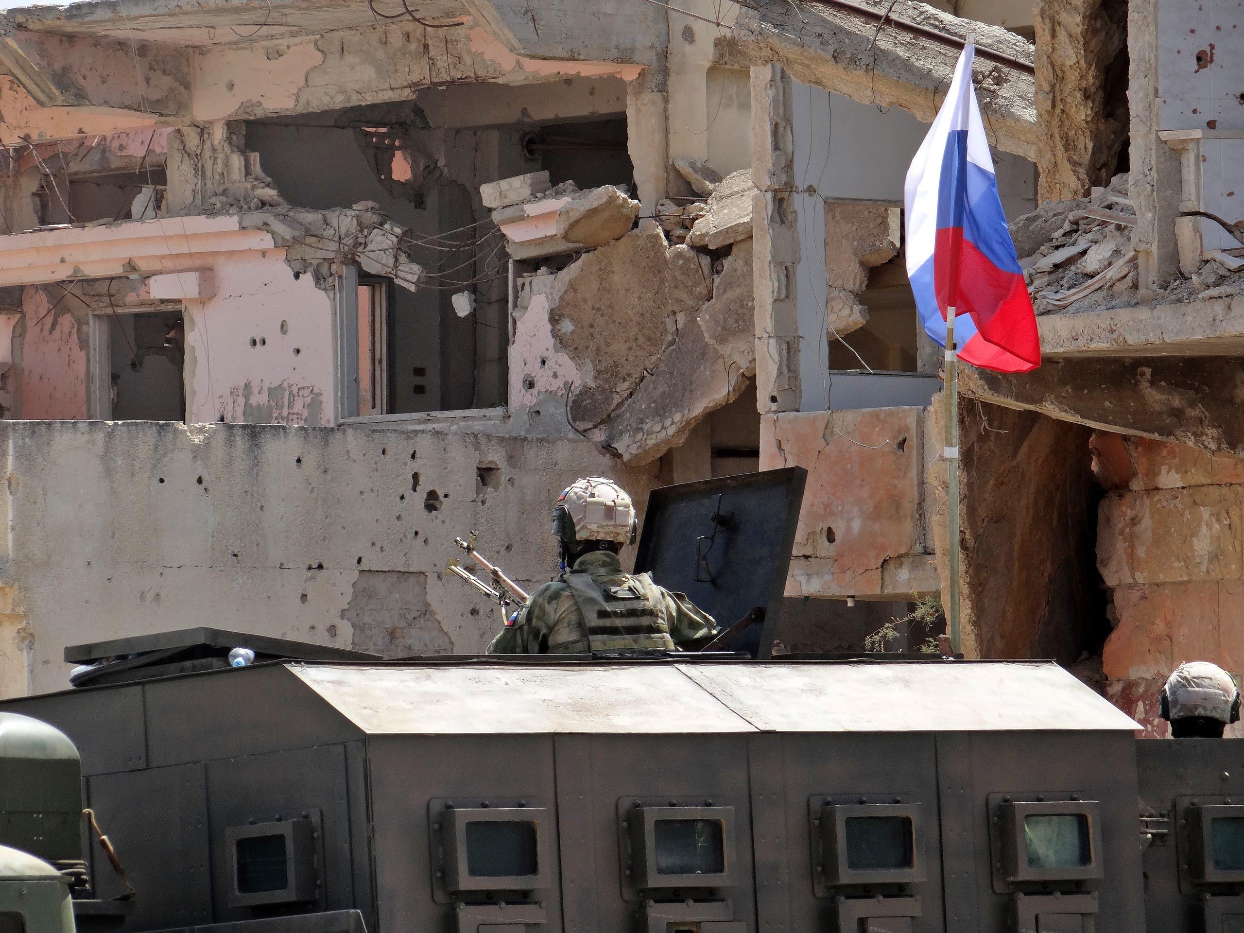 قوات روسية في درعا البلد