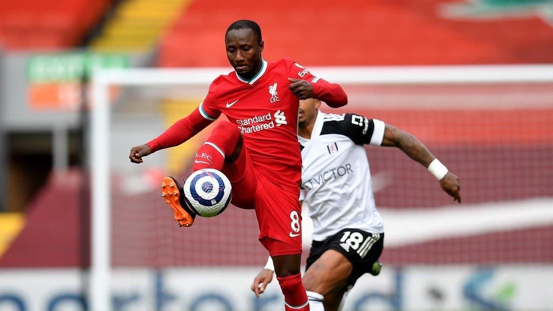 Liverpool's Naby Keita in action. (Pool via Reuters/Paul Ellis)