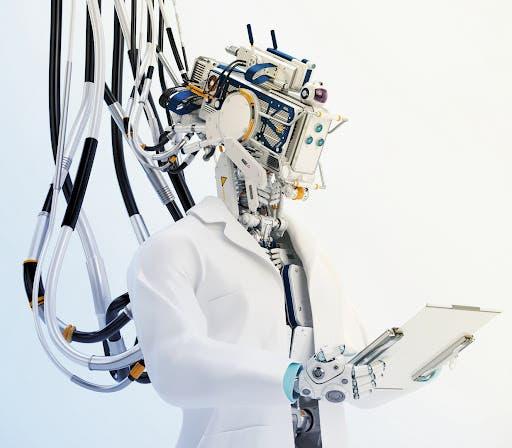روبوت والمهنة طبيب جراح
