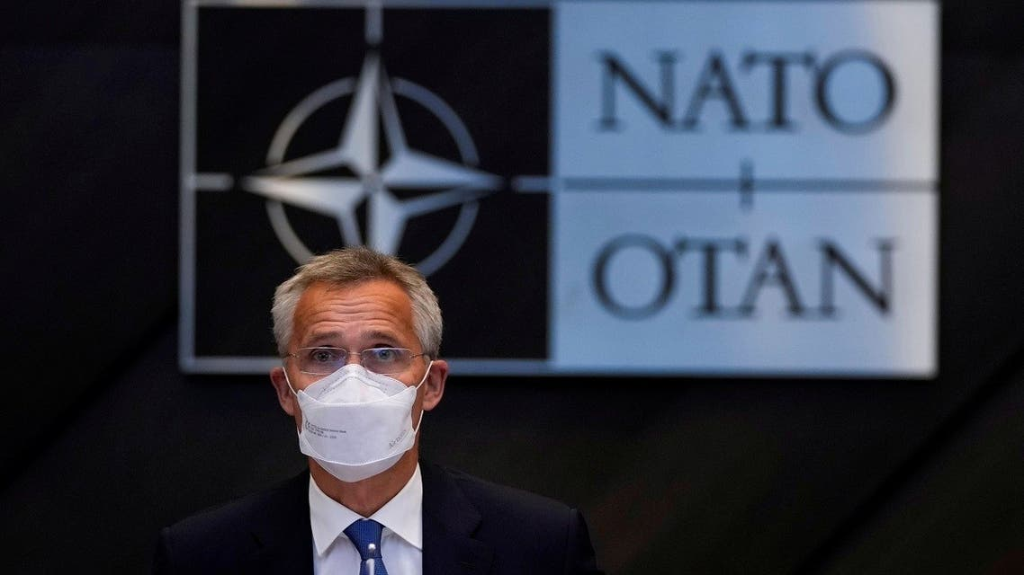NATO Secretary General Jens Stoltenberg speaks during a NATO Foreign Ministers virtual meeting following developments in Afghanistan, Aug. 20, 2021. (Reuters)