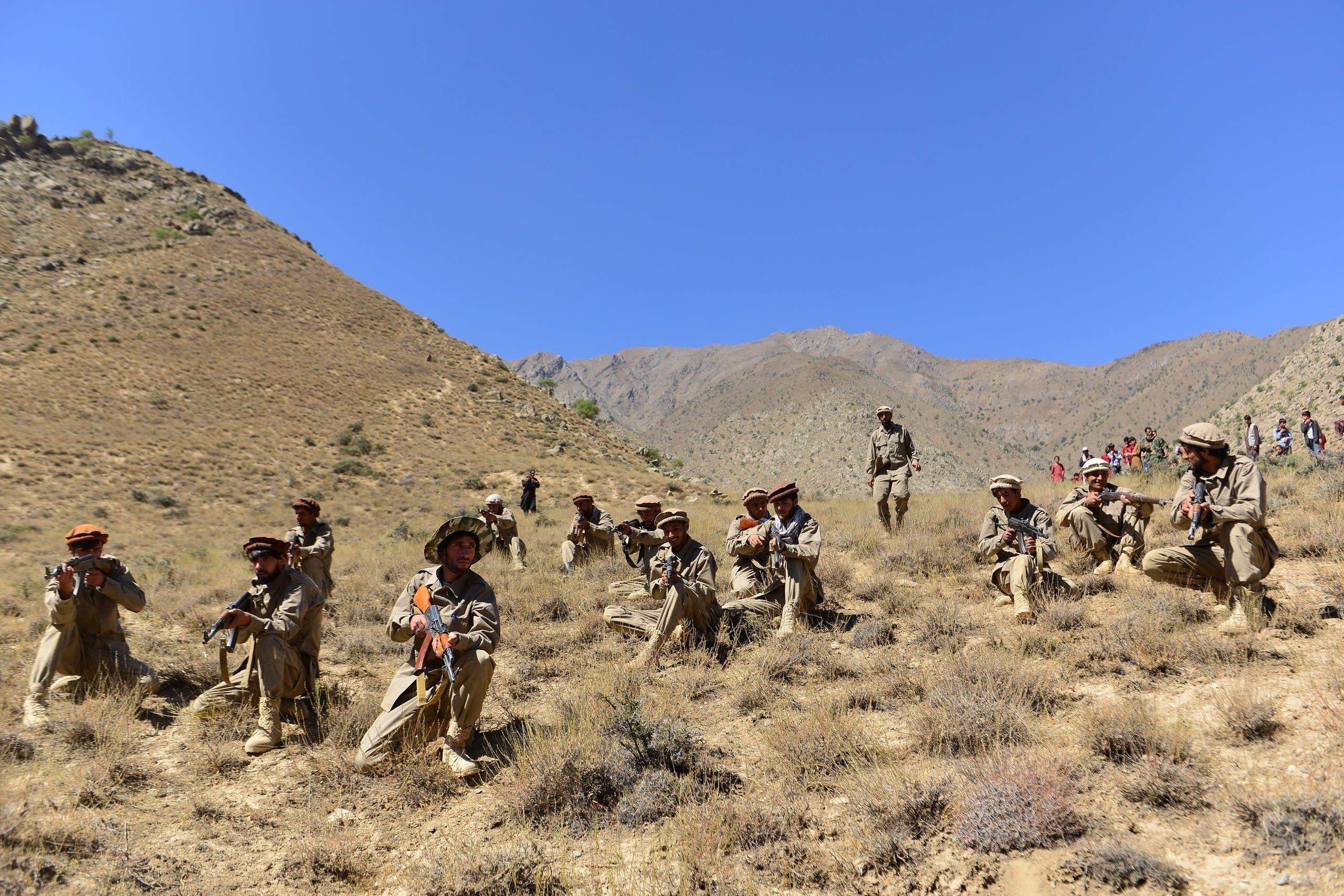 عناصر من المقاومة ضد طالبان في بنجشير
