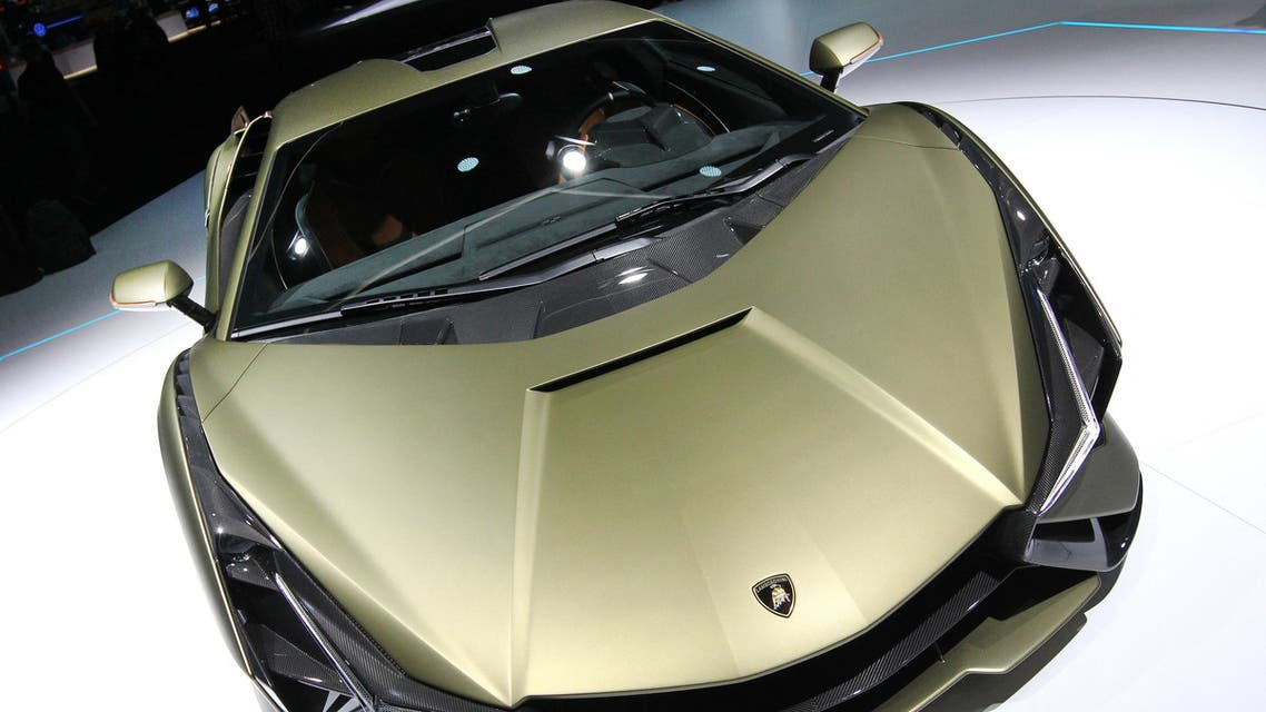 The Lamborghini Sian has a price tag of $3.6 million, and buys you the first super car that uses a V12 engine. (StocaA Lamborghini Sian FKP 37 is displayed at the company's booth at the International Auto Show (IAA), in Frankfurt am Main, on September 11, 2019. (AFP) k image)