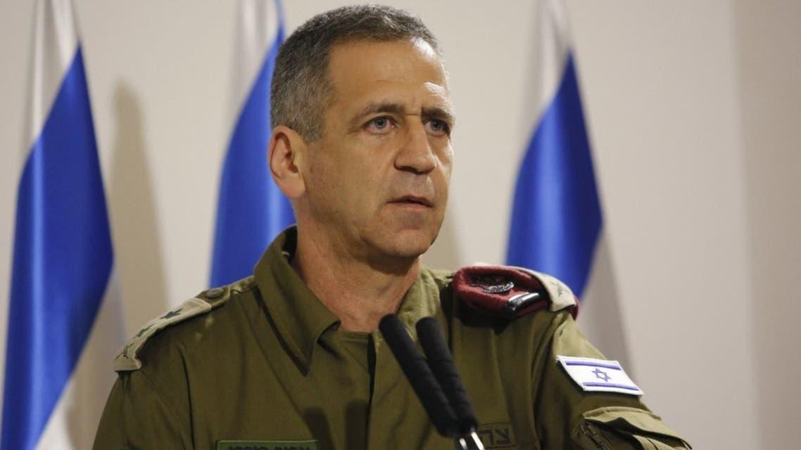 Israel's Army Chief of Staff, Lieutenant General Aviv Kochavi, addresses the media at the Defence Ministry in Tel Aviv on November 12, 2019. (AFP)
