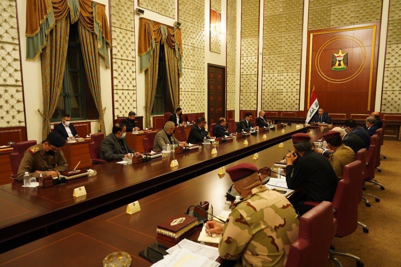 الكاظمي خلال ترؤسه لاجتماع مجلس الأمن الوطني