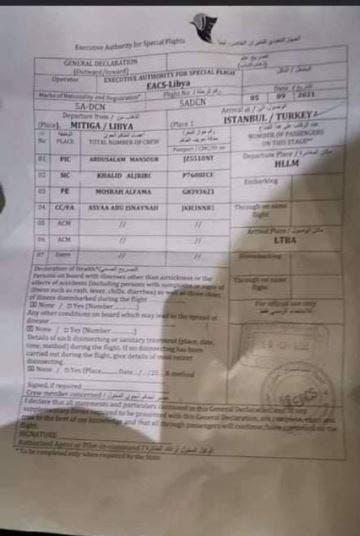 أوراق سفر الساعدي القذافي