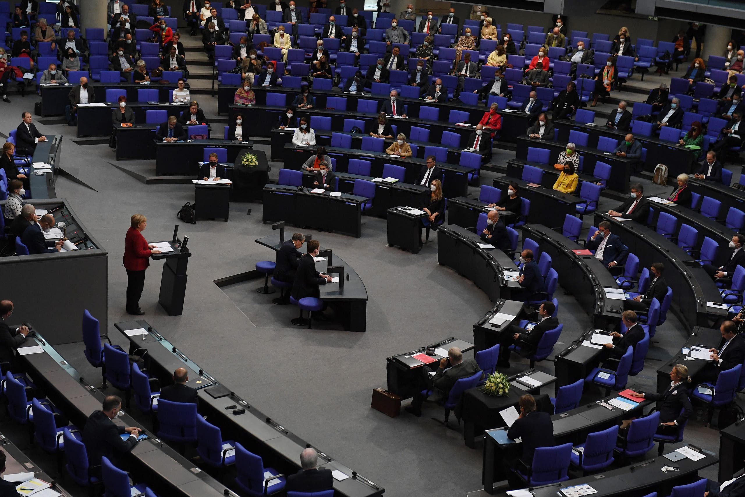 The Bundestag, the camera low of the German parliament