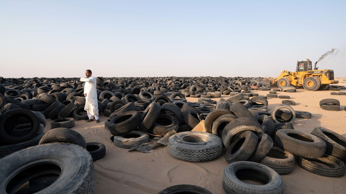 Kuwait starts to recycle massive tire graveyard. (Reuters)