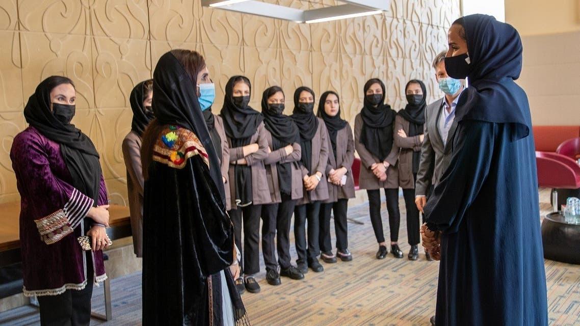 Qatar awards scholarship to Afghanistan's girls robotics team. (Twitter/@QF)