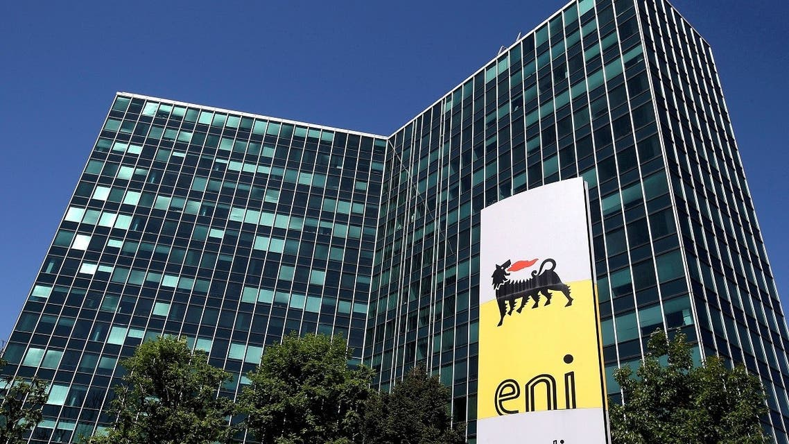 Eni's logo is seen in front of its headquarters in San Donato Milanese, near Milan, Italy. (Reuters)