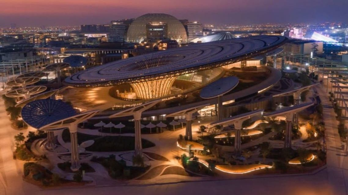 An aerial view of one of the Expo 2020 Dubai sites, UAE. (Twitter/HHShkMohd)
