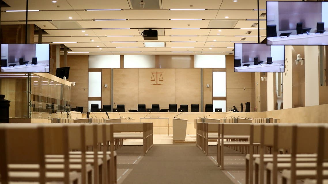 A view shows the temporary courtroom set up at Paris criminal courthouse for the opening of the trial of Paris' November 2015 attacks in which 130 people were killed and 400 more injured, in Paris, France, September 2, 2021. (Reuters)