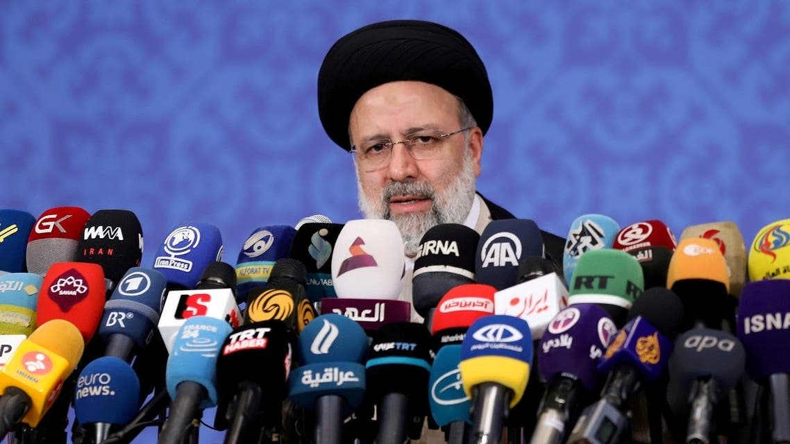 Ebrahim Raisi, who assumed office as Iran's president this month, speaks during a news conference in Tehran, Iran June 21, 2021. (Reuters)