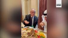 Japan Ambassador to Saudi Arabia goes viral for eating dish the traditional way