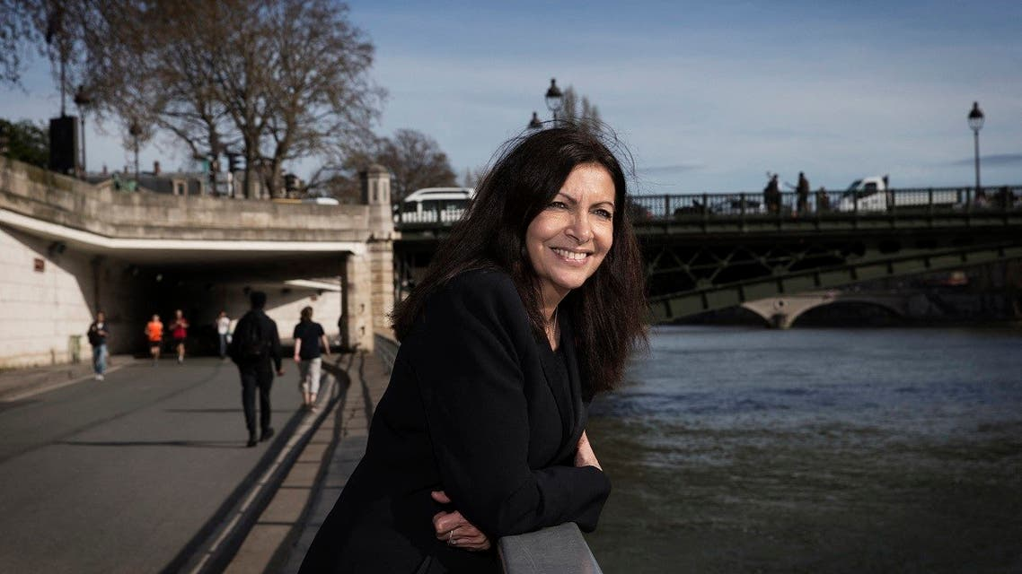 In this file photo taken on March 29, 2017, mayor of Paris Anne Hidalgo, poses during a photo session on the banks of River Seine in Paris. (AFP)