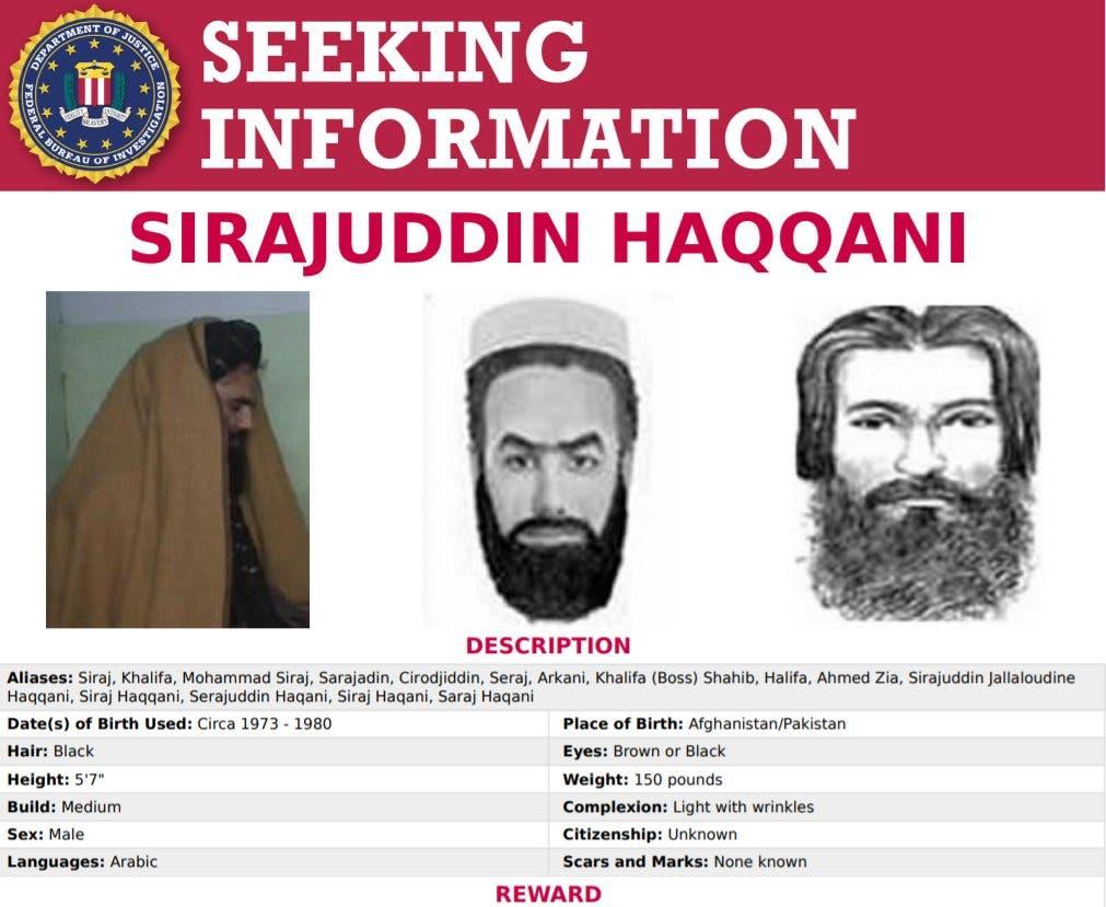 Taliban interior minister Sirajuddin Haqqani. (Twitter)