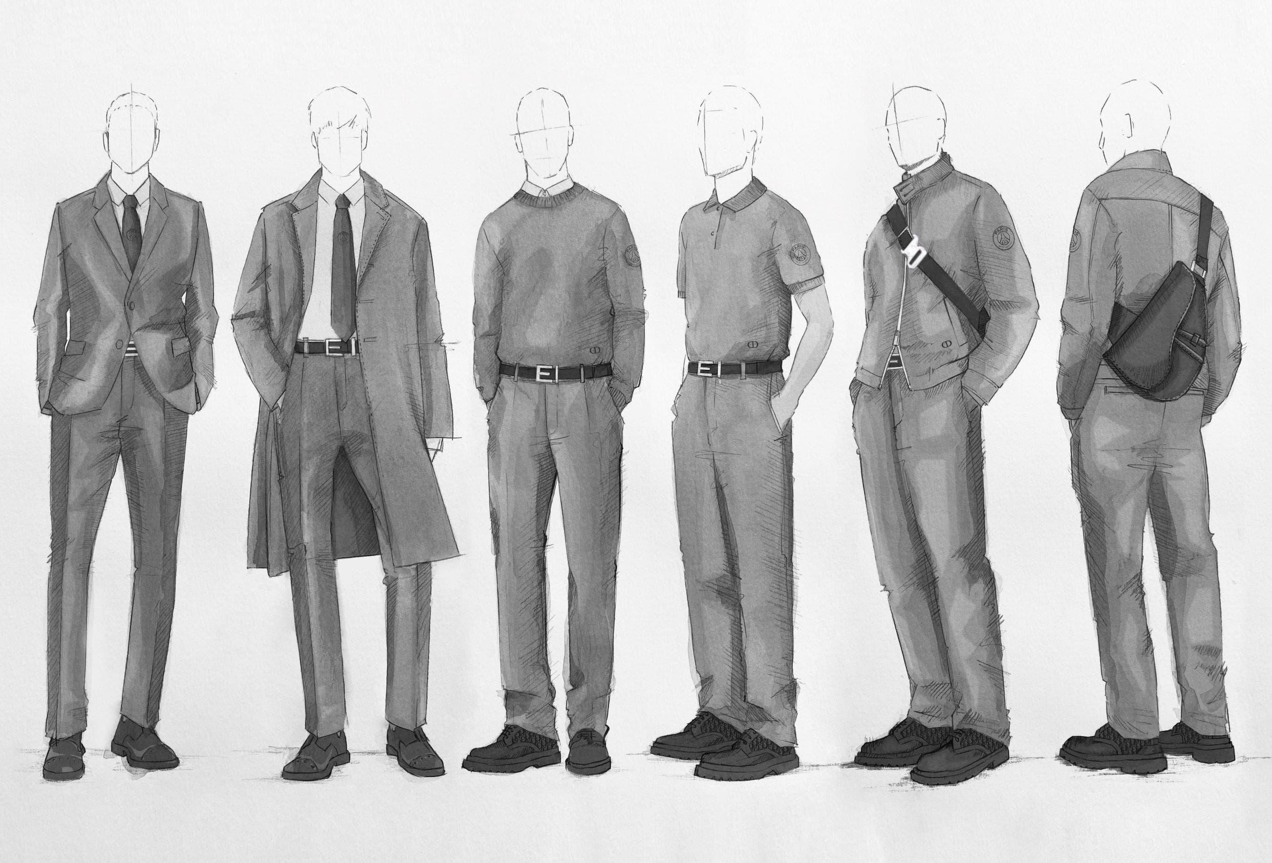تصميم البدلات والأزياء الكاجوال من ديور